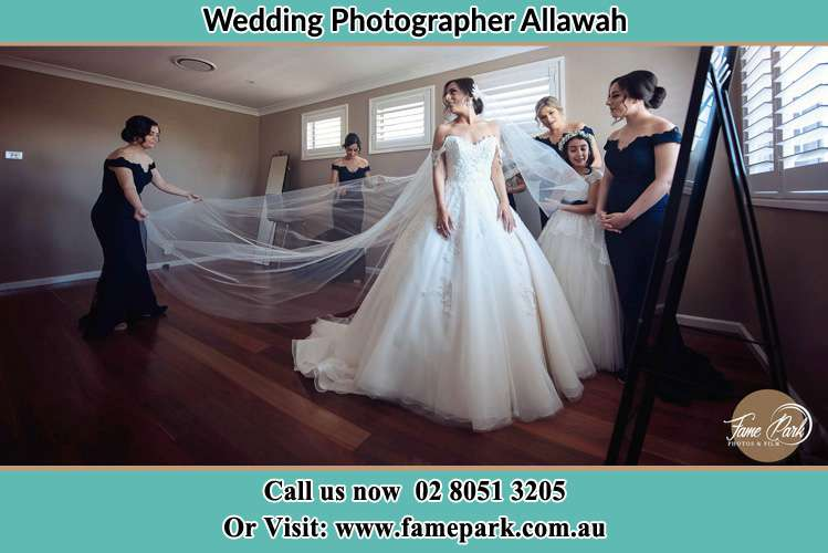 Photo of the Bride and her secondary sponsors getting ready Allawah NSW 2218