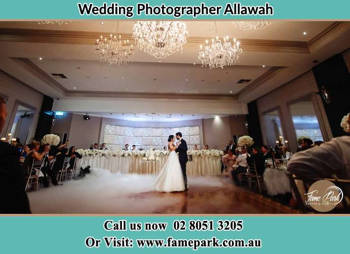 Photo of the Bride and the Groom dancing on the dance floor Allawah NSW 2218