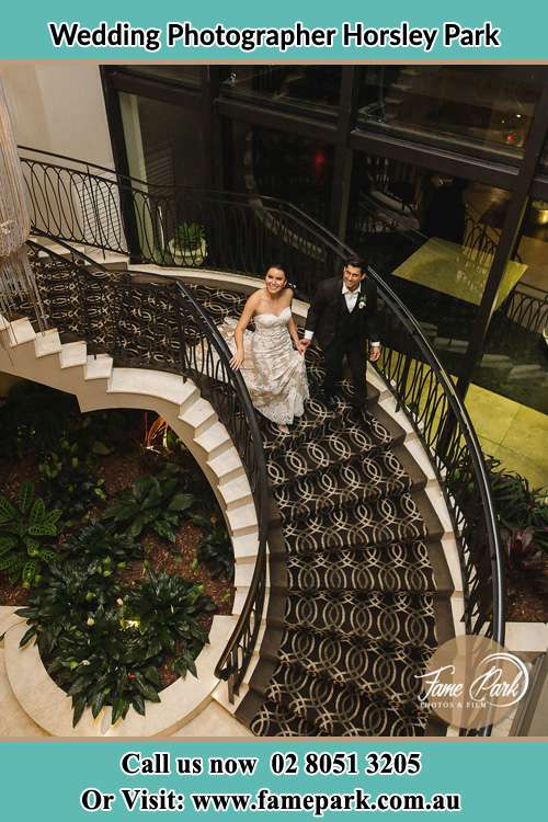 Photo of the Bride and the Groom going down the stair Horsley Park NSW 2175