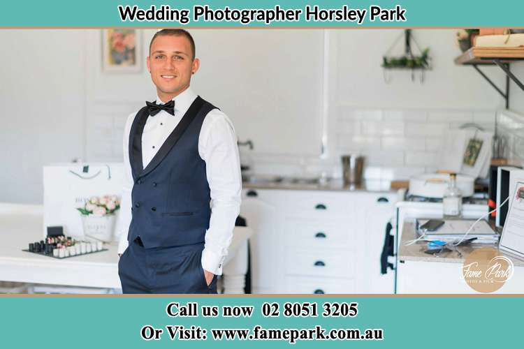 The Groom smiling at the camera Horsley Park NSW 2175