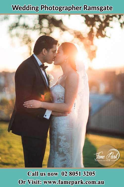 Photo of the Bride and the Groom kissing Ramsgate NSW 2217