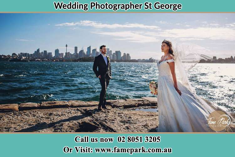Wedding Photo shoot near the shore St George